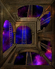 "climbing around in Eschers World or ""no Way out"" (franzisko hauser) Tags: surreal graphic art composing"