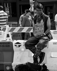 (namroff) Tags: sxsw sxsw2017 austin austintx atx street streetphotography candid people bw blackandwhite panhandler notahooker cardboardsign humor 6thstreet nateforman namroff nikon nikond810