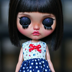Margo's last photos (zsofianyu) Tags: japanese toy takara tomy neo blythe doll ooak unique art custom freckles eye chips eyechips handmade clothes etsy shop store seller crochet knitting sewing dress jumper sweater skirt artistry karolin felix margo travelling traveling project dotted bow black hair