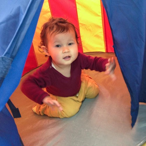 No grownups! Babies only in the tent at Star Kids International Preschool, Tokyo. #starkids #international #preschool #school #children #baby #toddler #kids #kinder #kindergarten #daycare #fun #shibakoen #minatoku #tokyo #japan #instakids #instagood #twit