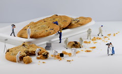 Cookie Scene Investigation: Following the Crumbs of Evidence (done by deb) Tags: miniaturepeople tinyworlds preiser cookies macro hofigurines hofigures