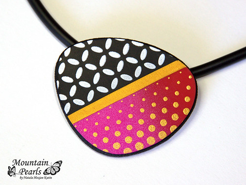 Statement polymer clay pendant  by Mountain pearls