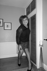 Black and White Versions (Victoria HS) Tags: tgirl tgurl hot horny sexy red leather skirt pencil fishnets high heels black jacket blouse brunette tv tg cd redleatherpencilskirt blackfishnets blackstilettoes tranny transvestite transgender lgbt lovely available needy longlegs