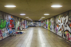 Wall Art (CoolMcFlash) Tags: munich germany street tunnel gangway graffiti art nobody canon eos 60d durchgang münchen deutschland kunst wall wand architecture architektur streetphotography fotografie photography city stadt urban citylife tamron a007 2470