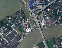 Bangkok, Thailand (satpaldageospatialservice) Tags: bangkok bridge new construction krungthep digitalglobe thailand satellite image megabridge