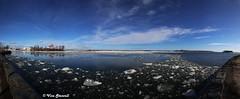 Eira, Helsinki (VisaStenvall) Tags: canon eos 6d 24105 mm f4 l is usm suomi finland helsinki spring winter sky sun sunny ice water snow clear blue rocks panorama photoshop eira kaivopuisto baltic sea shore