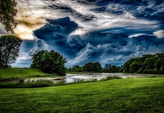 Approaching Spring Storm (myoldpostcards) Tags: rural country landscape bunn road sangamoncounty centralillinois illinois myoldpostcards randall randy vonliski season spring weather storm stormy dramatic clouds water pond approachingspringstorm canon 7d markii