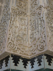 Décor de stuc, médersa Bou Inania (XIVe siècle), Talaa Kbira, médina de Fès el Bali, Fès, Maroc. (byb64) Tags: fès fez فاس ⴼⴰⵙ fas fèsmeknès maroc morocco marruecos المغرب ⵍⵎⵖⵔⵉⴱ royaumedumaroc marokko marocco médina medina vieilleville oldtown cascohistorico altstadt fèselbali unesco unescoworldheritagesite toits techos ville city citta ciudad town stadt talaakbira médersa madrassa xive 14th moyenage medioevo middleages edadmedia école université mérinides bouinania stuc calligraphie zellige tesselles cèdre marbre artislamique islam afriquedunord northafrica islamicart