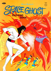1968 Space Ghost Coloring Book (Tom Simpson) Tags: spaceghost 1960s comics cartoons vintage coloringbook art illustration