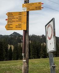 Schönenboden Hiking Trail Sign Post, Sörenberg, Canton of Lucerne, Switzerland (jag9889) Tags: fluehli marker soerenberg trail centralswitzerland switzerland 20170331 entlebuch hiking europe signpost cantonlucerne 2017 6173 alpine ch cantonoflucerne flühli helvetia innerschweiz kantonluzern lu lucerne luzern outdoor schweiz suisse suiza suizra svizzera swiss sörenberg village zentralschweiz jag9889
