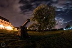 A midnight shot (ristic.vedran42) Tags: nikon d3200 fisheye night clouds longexposure osijek croatia moonlight cannon tree oldtown
