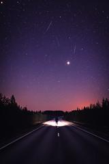 Dude! Where's my car?! (L.Matero) Tags: canon 5d mark iv sigma 35mm art g14 star starshot night nightphotography astrophotography light dark sky trees silhouette finland suomi