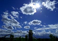 Puente del Tercer Milenio (portalealba on holidays) Tags: zaragoza zaragozaparque aragon españa spain puentes ebro expo nubes portalealba pentax pentaxk50 1001nights 1001nightsmagiccity nwn