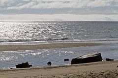 Tide, Fog and Erratics (brucetopher) Tags: beach seashore shore coast coastal water ocean sea tide tidepool boulder rock rocks boulders erratic erratics glacialerratic glacial glacier stone stones wet light shimmer shine sunlight sparkle