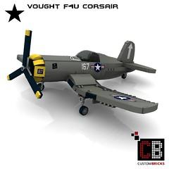 LEGO_Custom_WW2_Warplane_Vought_F4U_ART (LA-Design2012) Tags: lego custom moc ww2 wwii wk2 flugzeug plane kriegsflugzeug warplane vought f4u corsair bauanleitung instruction custombricks