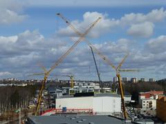 Cranes (skumroffe) Tags: cranes gruas grues kranar lyftkranar liebherrltm1250 liebherr ltm 1250 kranen smista smistaallë binsell binsellistockholm huddinge stockholm sweden