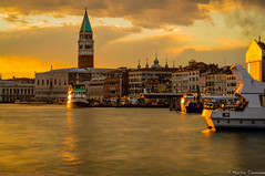 Shining Venice (martintimmann) Tags: reflection sundown loxia2485 goldenlight longexposure venice venezia veneto italien it