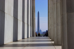 Big monuments, big pillars, big shadows! (stephen_tvedt) Tags: washington washingtondc dc lincoln lincolnmemorial monument washingtonmonument districtofcolumbia usa pillars shadows architecture silhouette marble neoclassic neoclassical neoclassicalarchitecture
