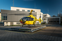 Rescue helicopter Christoph 16 in morning light. (dr.rol) Tags: hubschrauber luftfahrt rettungsdienst saarbrücken