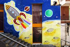 Moon landing (Alfredo Liverani) Tags: europa italia italy italien italie veneto schio schio2017 streetart graffiti art street murales wall spray aerosolcolor canong5x canon g5x
