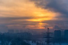 DSC_8492 (sergeysemendyaev) Tags: 2017 moscow russia mitino winter москва россия митино зима пейзаж landscape закат закатсолнца dusk sunset mist дымка облака облачно clouds cloudy obscure смутно неясно солнце sun unclear