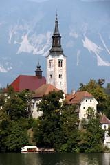 Pletna Church (Alan1954) Tags: slovenia bled pletna holiday 2016 lakebled church christian catholic