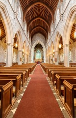 Aisle (Karen_Chappell) Tags: church aisle cathedral interior wideangle canonefs1022mm anglicancathedralofstjohnthebaptist anglican stjohns newfoundland nfld carpet pews canada downtown city urban architecture arch arches