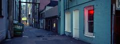 Taco Alley (Orion Alexis) Tags: film 35mm analog vancouver kodak ultramax 400 fujifilm tx1 xpan widescreen panorama cinematic alley gra street urban photography early morning analogue grain
