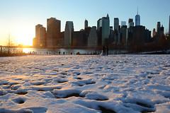 NYC at Sunset (airspex) Tags: nyc newyork new york city newyorkcity usa manhatten skyline skylinenyc snow sunset dusk