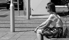 Sunny day (patrick_milan) Tags: noiretblanc blackandwhite noir blanc monochrome nb bw black white street rue people personne gens streetview féminin femal femme woman women girl fille belle beautiful portrait face candide