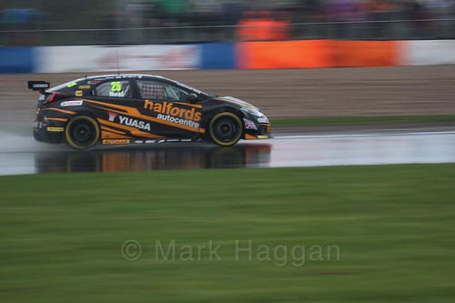 Matt Neal in race three at the British Touring Car Championship 2017 at Donington Park
