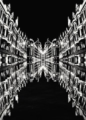 Turn the lights on Harrods (muigee@) Tags: harrods london mirrored creativephotography blackandwhite blackwhite lovelondon