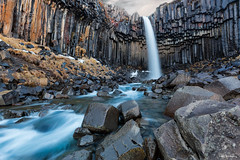 The Basalt Falls (MRC Imagery) Tags: svartifoss iceland waterfall water rock basalt sunrise nature landscape 5dmk3 1635mm longexposure winter volcanic stone formations colour color pillars columns