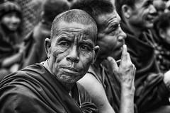 Monk's thoughts (Feca Luca) Tags: street reportage portrait ritratto blackwhite monk monaco buddhism buddha buddismo buddhist people religion religione kalachakra india asia nikon