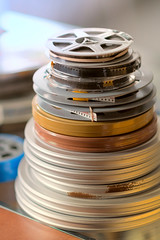 Footage, Measured in Feet (DaveLawler) Tags: footage film reels movies home cans 8mm 16mm d500 dof believeinfilm