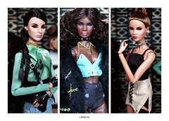 Reckless Girls (L.Royalty55) Tags: nuface nu face nadja rhymes islay giselle diefendorf akagigi ayumi nakamura totalbetty recklesscollection fashionroyalty fr it integritytoys doll toy