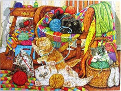 All Tangled Up (Donna Knold) (Leonisha) Tags: puzzle jigsawpuzzle cats chat katzen kätzchen kittens yarn wolle