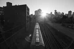 Miles Away (memories of time) Tags: canada vancouver sunset sun sunlight train city