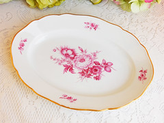 Meissen Porcelain Serving Platter ~ Pink Flowers ~ 1st Quality (Donna's Collectables) Tags: meissen porcelain serving platter ~ pink flowers 1st quality