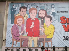 Silicon Valley HBO Show Billboard Times Square NYC 4653 (Brechtbug) Tags: silicon valley hbo show bus billboard springtime new york 2017 april 04202017 taxi cab sunny 42nd street 7th ave number one times square nyc pedestrians avenue st commuting shows billboards graphic novel artist daniel clowes illustration looks great art technology fueling station electricity power cartoon caricature cartoons