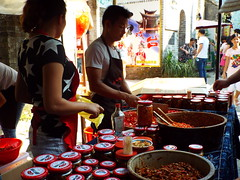 DSCF0880 (Romane Licour) Tags: streetfood chili homemade chinesefood chinesegastronomy culture cooking street marketplace xingping