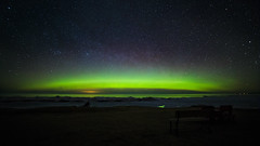 Lake Superior Glow (Kevin Pihlaja) Tags: northernlights auroraborealis lakesuperior mclainstatepark keweenaw upperpeninsula michigan landscape stars greatlakes nightphotography nature rokinon