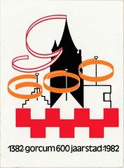 Sticker Gorcum 600 jaar stad 1982 (Barry van Baalen) Tags: gorinchem gorcum gorkum sticker stad city anniversary jubileum 1982 1382