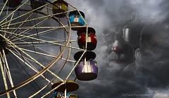 Photo artistry - Dark carnival (mcleod.robbie) Tags: dark carnival clown moody fantasy furnancefashionedphotography finearts fairytale ride