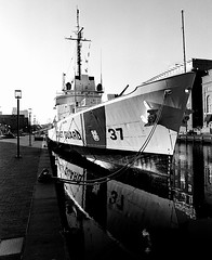USCGC Taney ([Anthony T.]) Tags: coastguard reflection history museum mediumformat boat sailing ship kodak sailors 6x7 cutter innerharbor plusx 125px historicships pentax67ii smc55mmf4 usgctaney