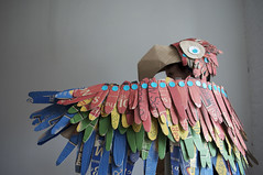 Makedo Parrot (lottie smith) Tags: bird costume wings rainbow play feathers dressup parrot cardboard recycling macaw fancydress reuse birdcostume makedo cardboardsculpture