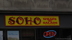 Soho Wraps & Salaads (Gerard Donnelly) Tags: sign albany enseigne