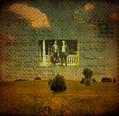 We Used To Wait no.76 (dek dav) Tags: music brown abstract color tree art nature rock collage digital vintage project fire photo lyrics warm artist arty postcard arcade journal band surreal manipulation canadian indie letter deviant 365 write concept songs