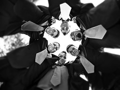 Groomsmen (awallphoto) Tags: wedding arizona portrait sky fish circle tie az olympus fisheye gilbert ft groomsmen 43 omd 75mm m43 ultrawideangle mft fourthirds awall em5 aaronwallace microfourthirds awallphoto awallphotocom