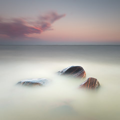 Pollen (- David Olsson -) Tags: longexposure sunset summer lake 3 seascape nature water june square lan